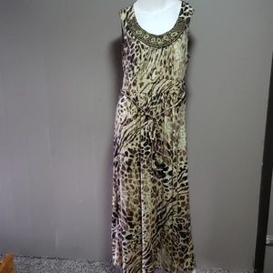 Faded Glory Animal Print Maxi Dress Sz 1x